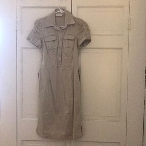 Calvin Klein khaki dress